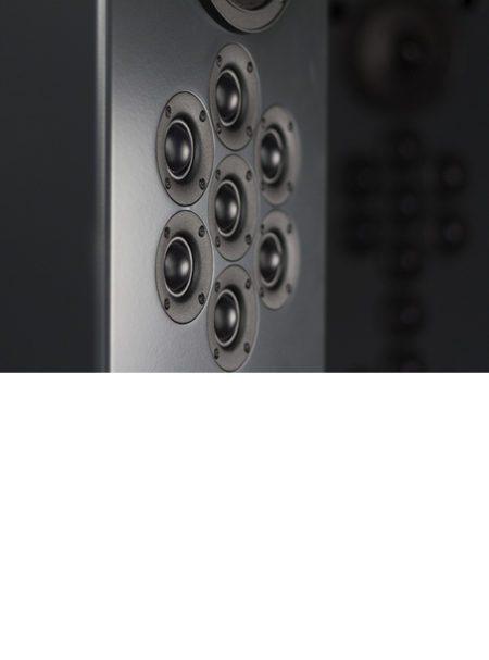 Tekton Design Encore Hi-Fi Loudspeaker Front - Quarter Turn Detail