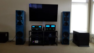 Blue High Gloss Double Impact Loudspeakers