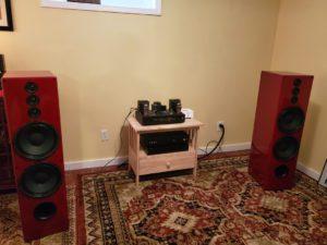 Red High Gloss Enzo XL Loudspeakers